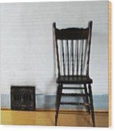 Lone Seat Wood Print