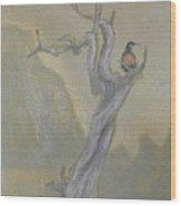 Lone Sentinel Wood Print