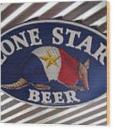 Lone Star Beer Wood Print