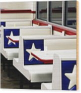 Lone Star Dairy Queen Wood Print