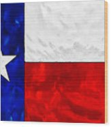 Lone Star Stained Glass Wood Print