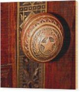 Lone Star Knob Wood Print