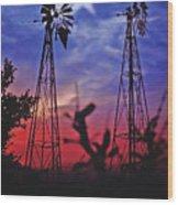 Lone Star Sunset Wood Print