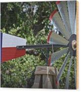 Lone Star Windmill Wood Print