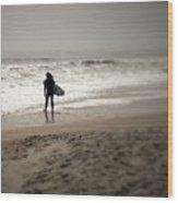 Lone Surfer II Wood Print