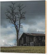 Lonely Barn Wood Print