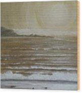 Lonely Beach Sunrise Wood Print