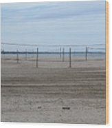 Lonely Beach Volleyball Wood Print