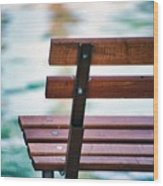 Lonely Bench Wood Print