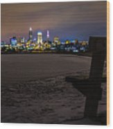 Lonely City Wood Print