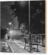 Lonely Evening At Vulcan Park Wood Print