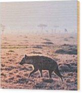 Lonely Hunter Wood Print