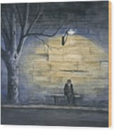 Lonely In Paris Wood Print