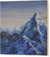 Lonely Mountain Cliff Wood Print