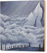 Lonely Mountain Wood Print