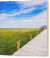 Lonely Pier II Wood Print