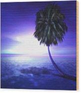 Lonely Pine Wood Print by Monroe Snook