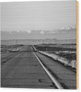 Lonely Route 24 Wood Print