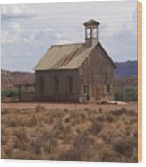 Lonely Schoolhouse Wood Print