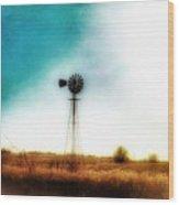 Lonely Skies Wood Print