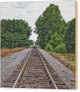 Lonely Track Wood Print