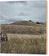 Lonely Tractor Panorama Wood Print