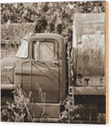 Lonely Truck Wood Print