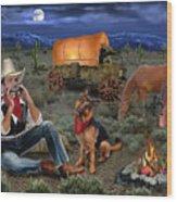 Lonesome Cowboy Wood Print