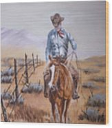 Lonesome Trail Wood Print
