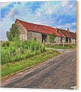 Long Barns Near Avincey - P4a16016 Wood Print