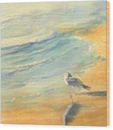 Long Beach Bird Wood Print