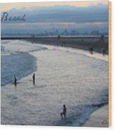 Long Beach Ca Wood Print