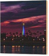 Long Beach Lighthouse II Wood Print