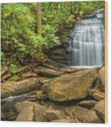 Long Creek Falls Wood Print