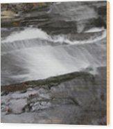 Long Creek Falls Swoosh Wood Print