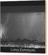 Long Exposure - Bw Poster Wood Print