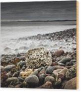 Long Exposure At Lawrencetown Beach, Nova Scotia Wood Print