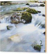 Long Exposure River Shkumbin  Wood Print