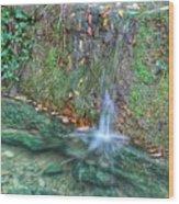 Long Exposure Waterfall Wood Print