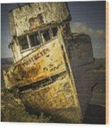 Long Forgotten Boat Wood Print