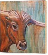 Long Horn Wood Print
