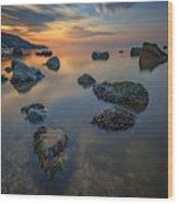Long Island Sound Tranquility Wood Print