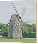 Long Island Wind Mill Wood Print