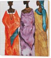 Long Ladies Wood Print