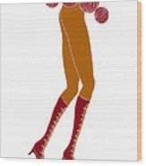 Long Legs Wood Print by Frank Tschakert