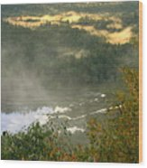 Long Pond Tully River Fog Wood Print