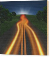 Long Road In Twilight Wood Print