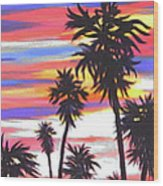 Long Skinny Sunset Wood Print