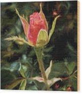 Long Stemmed Rose Wood Print