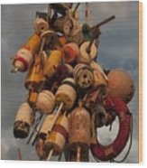 Long Wharf Buoys Wood Print